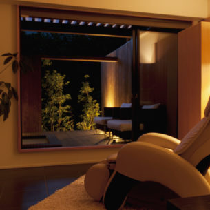 テラスにつながる開放感溢れる客室