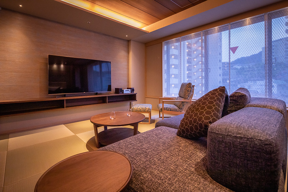 景色に劣る山側客室の改装